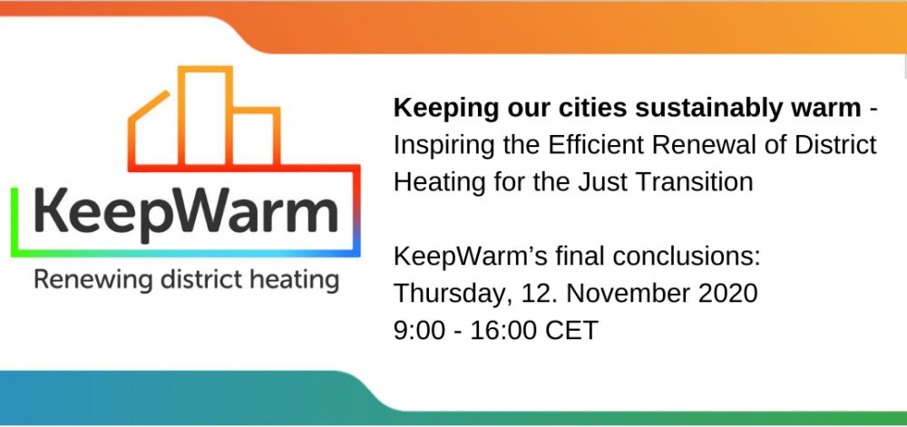 Keeping our cities sustainably warm - Inspiring the Efficient Renewal of District Heating for the Just Transition