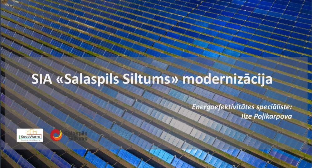 Materials from first KeepWarm webinar on five district heating systems' modernisation examples in Latvia now available
